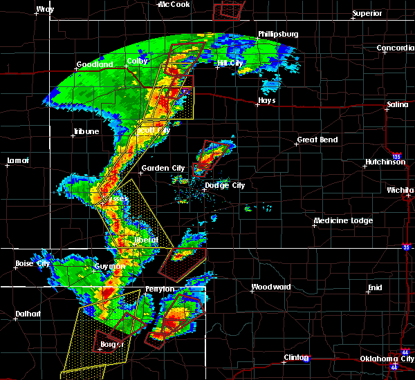 Radar Image for Severe Thunderstorms near Healy, KS at 11/16/2015 7:57 PM CST