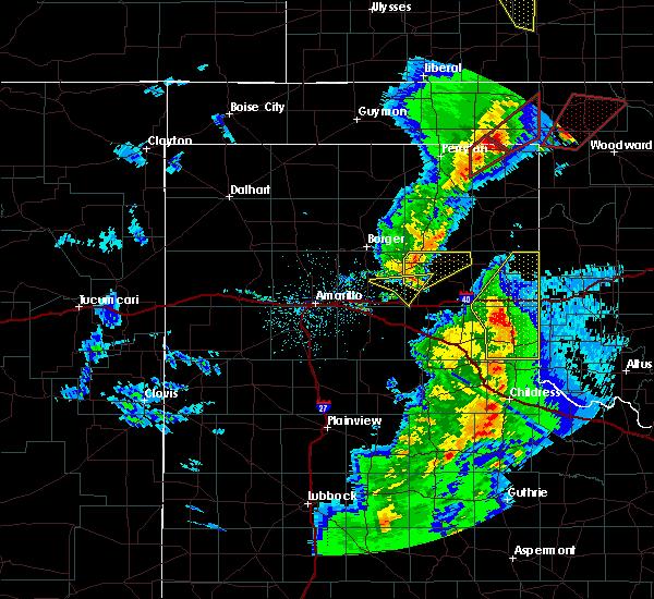 Radar Image for Severe Thunderstorms near Lefors, TX at 11/16/2015 9:25 PM CST