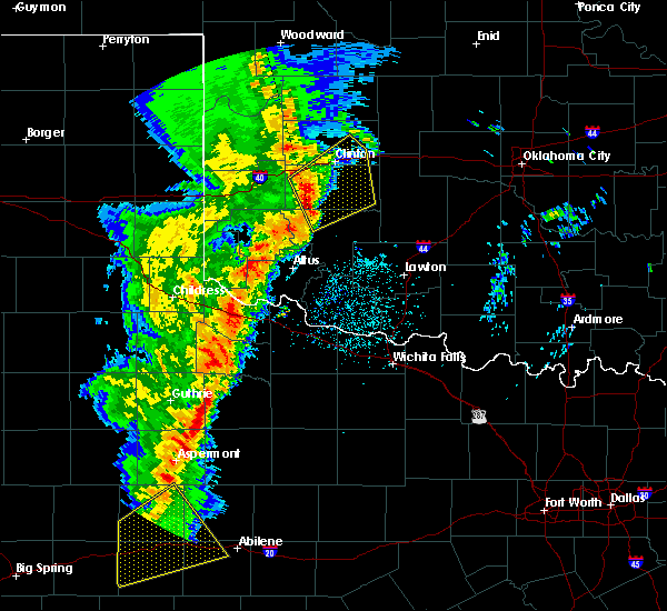 Radar Image for Severe Thunderstorms near Weatherford, OK at 11/16/2015 10:56 PM CST