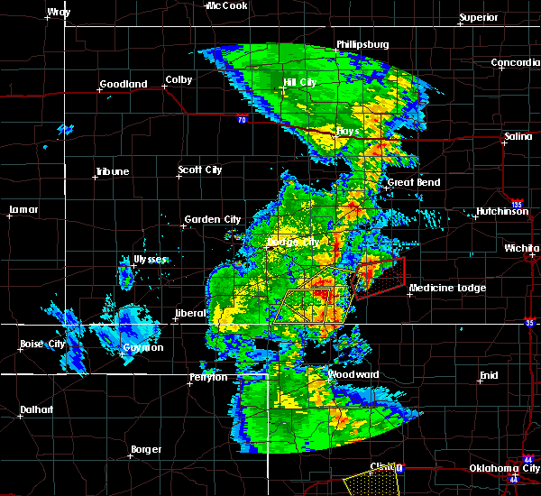 Radar Image for Severe Thunderstorms near Coldwater, KS at 11/16/2015 11:10 PM CST