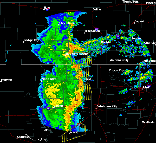 Radar Image for Severe Thunderstorms near Attica, KS at 11/17/2015 12:47 AM CST