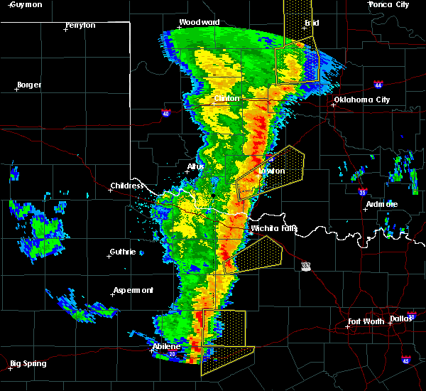 Radar Image for Severe Thunderstorms near Central High, OK at 11/17/2015 12:53 AM CST