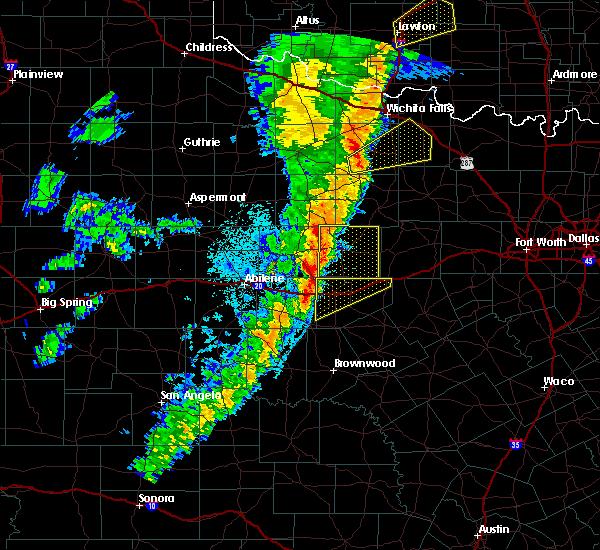 Radar Image for Severe Thunderstorms near Ranger, TX at 11/17/2015 12:53 AM CST