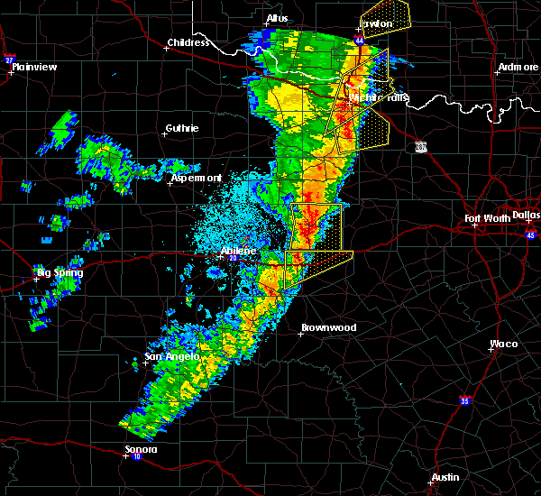 Radar Image for Severe Thunderstorms near Eastland, TX at 11/17/2015 1:12 AM CST