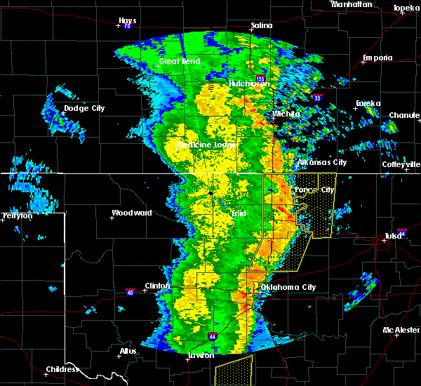 Radar Image for Severe Thunderstorms near Ralston, OK at 11/17/2015 2:07 AM CST