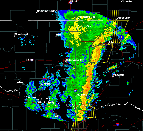 Radar Image for Severe Thunderstorms near Kellyville, OK at 11/17/2015 3:59 AM CST
