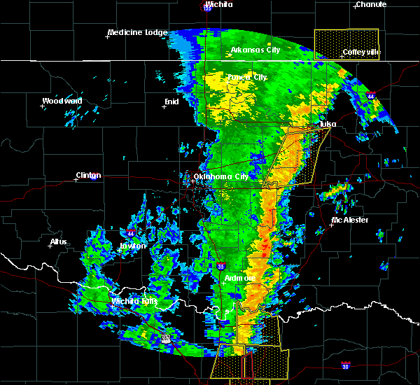 Radar Image for Severe Thunderstorms near Kellyville, OK at 11/17/2015 4:05 AM CST