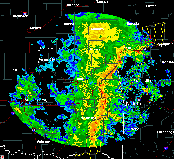 Radar Image for Severe Thunderstorms near Tahlequah, OK at 11/17/2015 6:29 AM CST