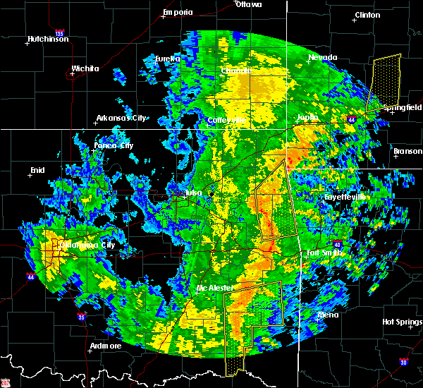Radar Image for Severe Thunderstorms near Tahlequah, OK at 11/17/2015 6:50 AM CST