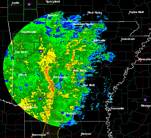Radar Image for Severe Thunderstorms near Gurdon, AR at 11/17/2015 11:58 AM CST