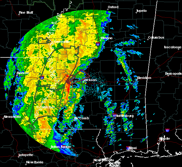 Radar Image for Severe Thunderstorms near Flora, MS at 11/17/2015 9:40 PM CST
