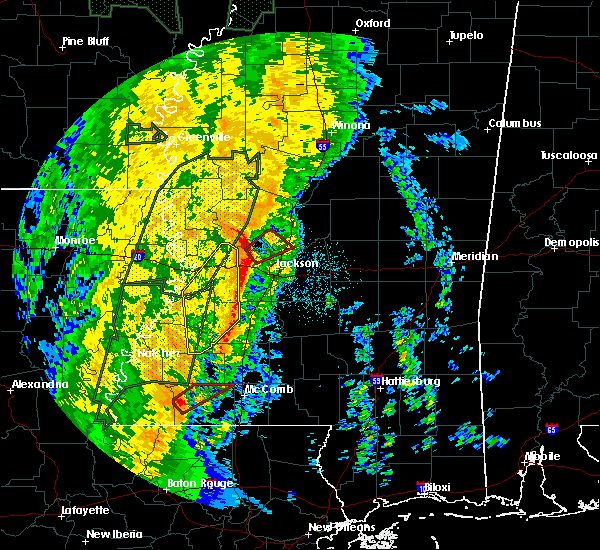 Radar Image for Severe Thunderstorms near Flora, MS at 11/17/2015 9:58 PM CST