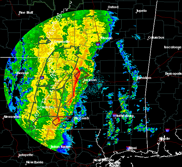 Radar Image for Severe Thunderstorms near Flora, MS at 11/17/2015 10:04 PM CST