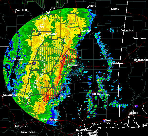 Radar Image for Severe Thunderstorms near Wesson, MS at 11/17/2015 10:07 PM CST