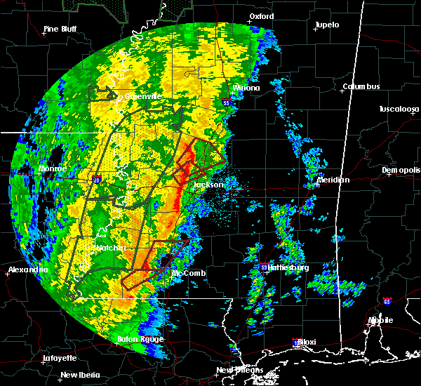 Radar Image for Severe Thunderstorms near Wesson, MS at 11/17/2015 10:17 PM CST