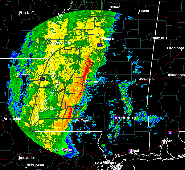 Radar Image for Severe Thunderstorms near Durant, MS at 11/17/2015 10:32 PM CST
