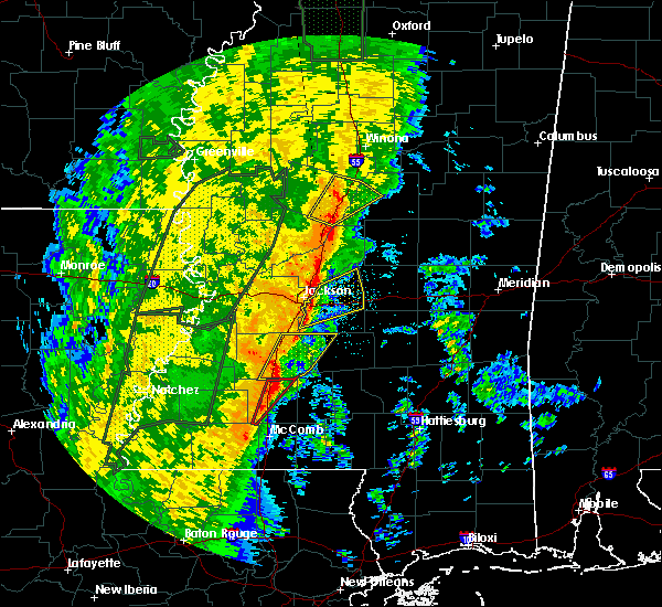 Radar Image for Severe Thunderstorms near Wesson, MS at 11/17/2015 10:47 PM CST