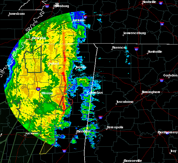 Radar Image for Severe Thunderstorms near Sturgis, MS at 11/18/2015 1:03 AM CST