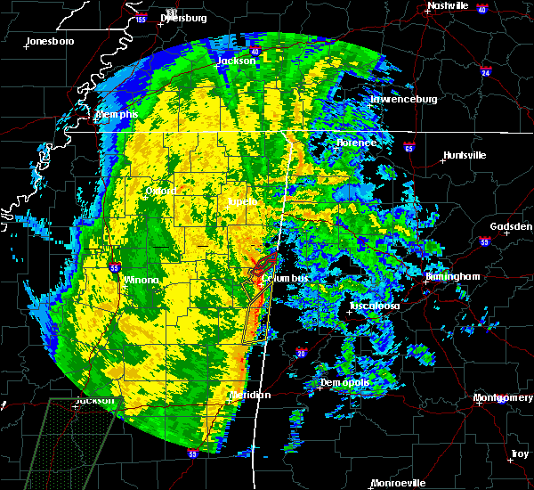 Radar Image for Severe Thunderstorms near Hamilton, MS at 11/18/2015 4:07 AM CST