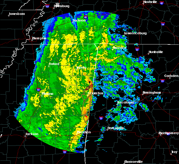 Radar Image for Severe Thunderstorms near Hamilton, MS at 11/18/2015 4:24 AM CST