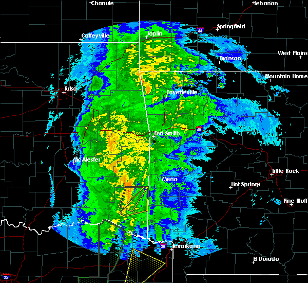 Radar Image for Severe Thunderstorms near Broken Bow, OK at 12/12/2015 8:29 PM CST