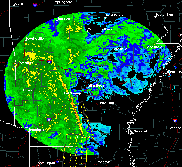 Radar Image for Severe Thunderstorms near Fordyce, AR at 12/13/2015 11:59 AM CST