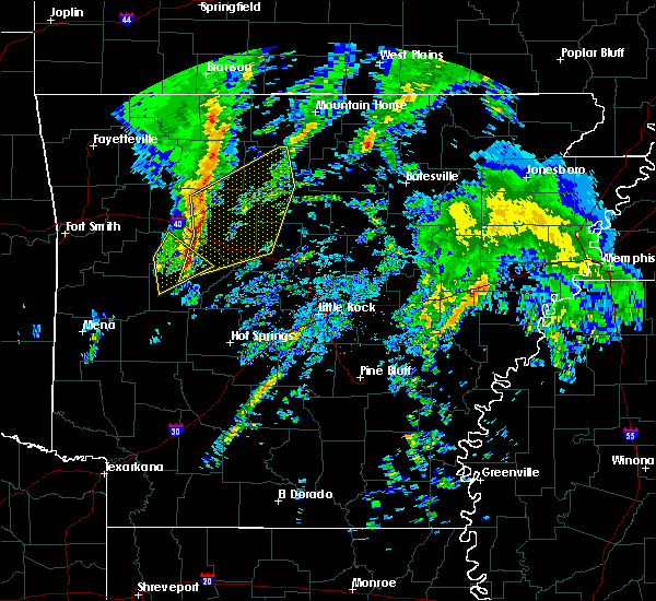 Radar Image for Severe Thunderstorms near Marshall, AR at 12/23/2015 4:59 AM CST