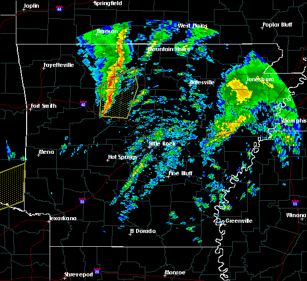 Radar Image for Severe Thunderstorms near Marshall, AR at 12/23/2015 5:24 AM CST