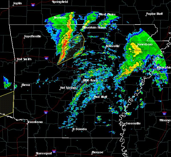 Radar Image for Severe Thunderstorms near Marshall, AR at 12/23/2015 5:33 AM CST