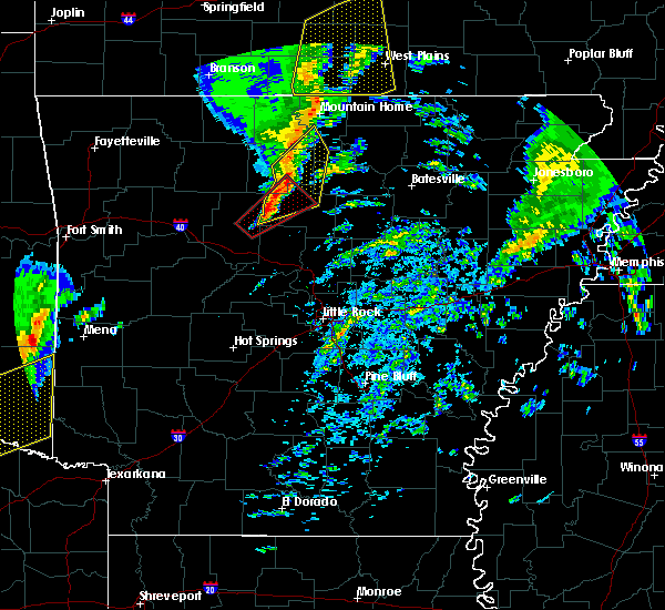 Radar Image for Severe Thunderstorms near Clinton, AR at 12/23/2015 5:54 AM CST