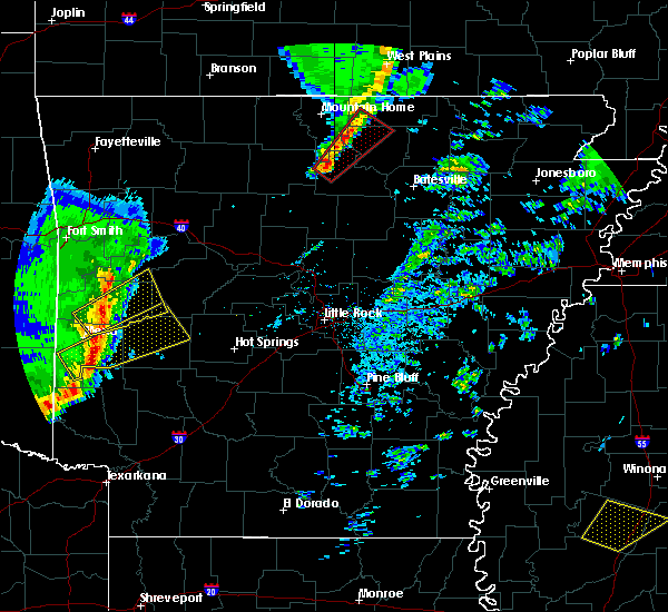 Radar Image for Severe Thunderstorms near Pineville, AR at 12/23/2015 6:36 AM CST