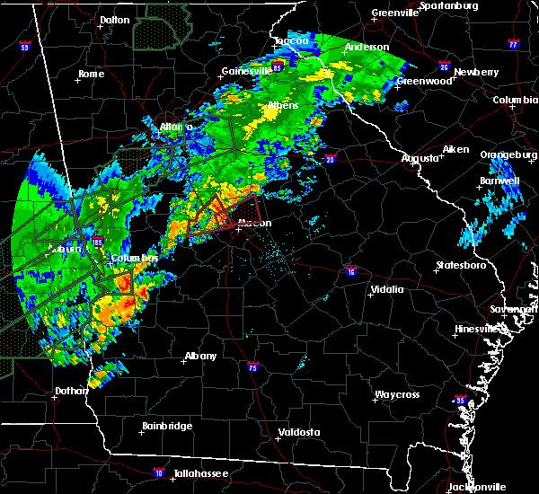 Radar Image for Severe Thunderstorms near Gray, GA at 12/24/2015 2:08 PM EST