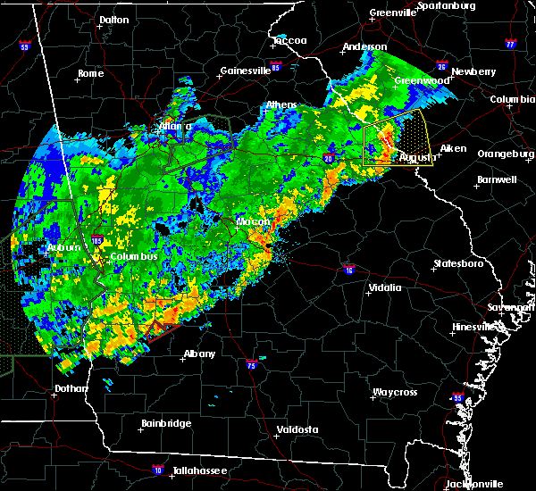 Radar Image for Severe Thunderstorms near De Soto, GA at 12/24/2015 4:27 PM EST