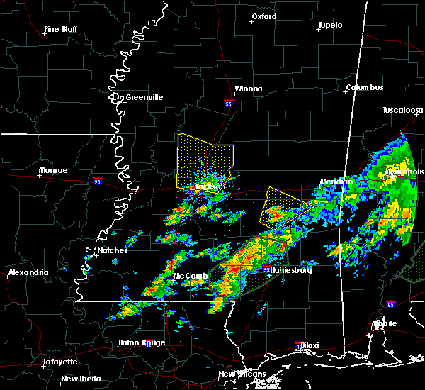 Radar Image for Severe Thunderstorms near Brandon, MS at 12/24/2015 4:52 PM CST