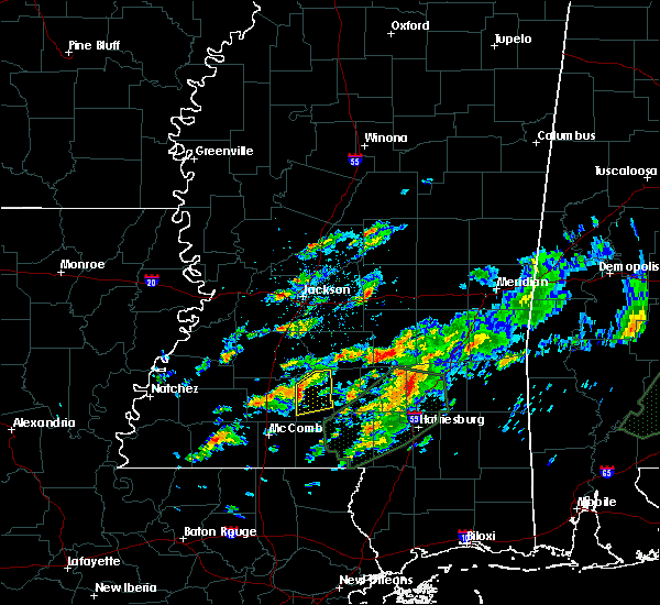 Radar Image for Severe Thunderstorms near New Hebron, MS at 12/24/2015 5:40 PM CST