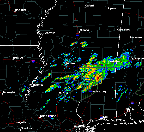 Radar Image for Severe Thunderstorms near Sandersville, MS at 12/24/2015 6:25 PM CST