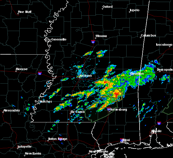 Radar Image for Severe Thunderstorms near Heidelberg, MS at 12/24/2015 6:23 PM CST