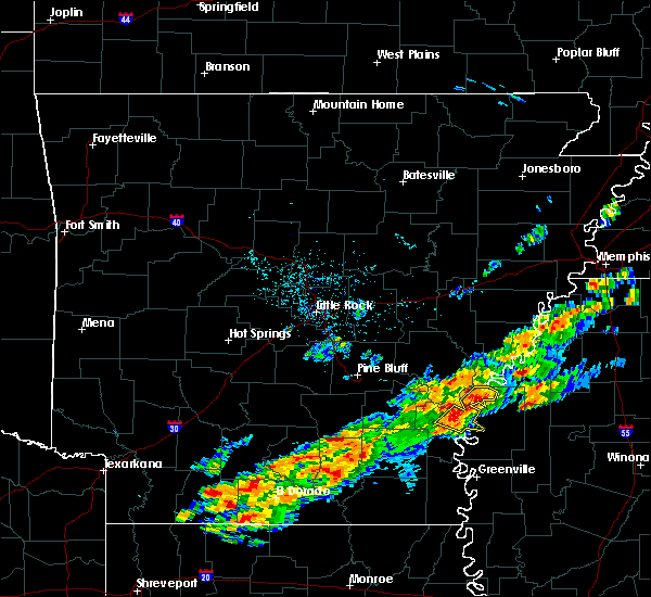 Radar Image for Severe Thunderstorms near Watson, AR at 12/25/2015 12:49 AM CST