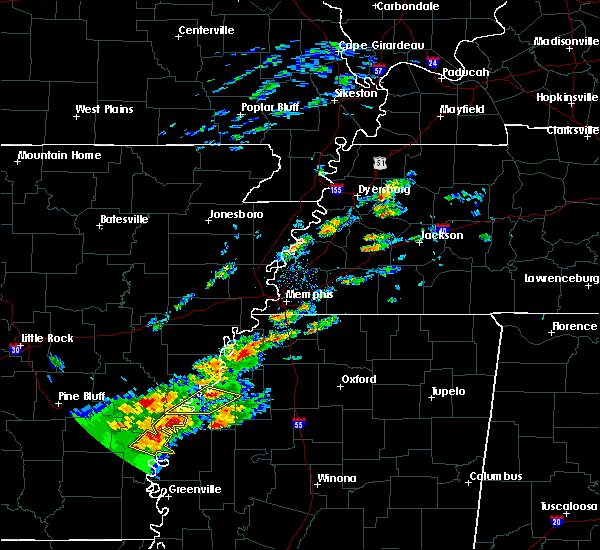 Radar Image for Severe Thunderstorms near Clarksdale, MS at 12/25/2015 12:54 AM CST
