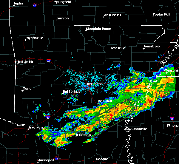Radar Image for Severe Thunderstorms near Watson, AR at 12/25/2015 1:58 AM CST