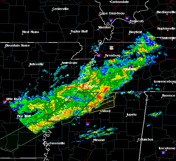 Radar Image for Severe Thunderstorms near Holly Springs, MS at 12/25/2015 3:02 AM CST