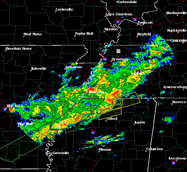 Radar Image for Severe Thunderstorms near Ashland, MS at 12/25/2015 3:13 AM CST