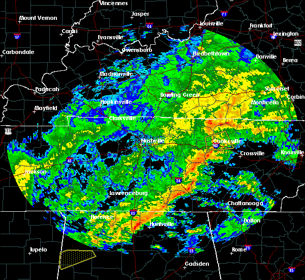Radar Image for Severe Thunderstorms near Monterey, TN at 12/25/2015 8:01 AM CST