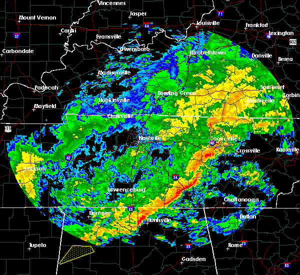 Radar Image for Severe Thunderstorms near Monterey, TN at 12/25/2015 8:14 AM CST