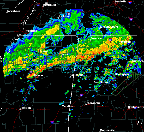 Radar Image for Severe Thunderstorms near Winona, MS at 12/25/2015 8:57 AM CST