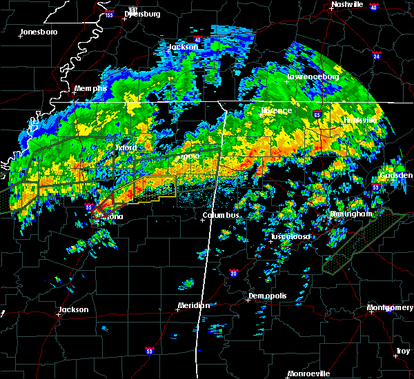 Radar Image for Severe Thunderstorms near Calhoun City, MS at 12/25/2015 9:10 AM CST
