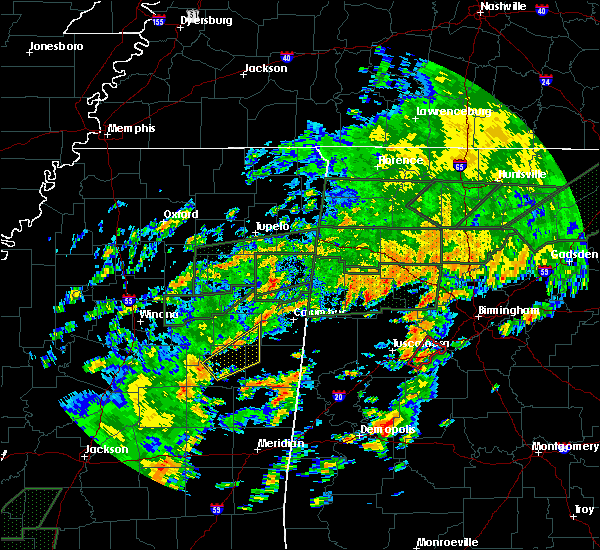 Radar Image for Severe Thunderstorms near Noxapater, MS at 12/25/2015 3:43 PM CST