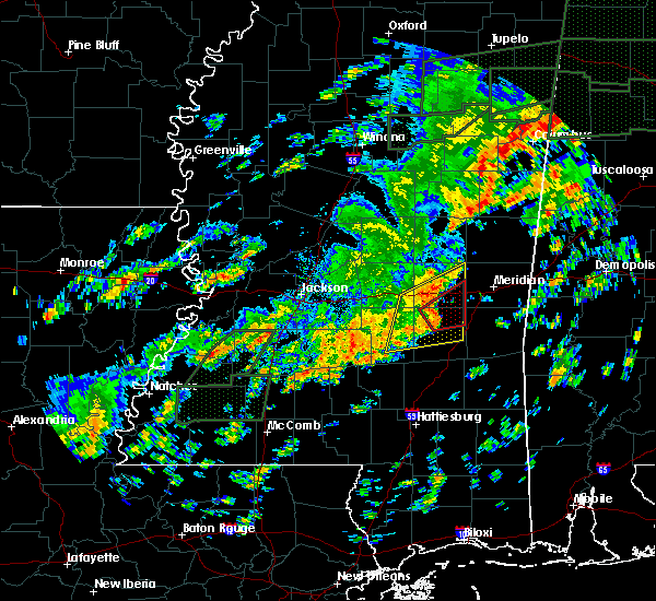 Radar Image for Severe Thunderstorms near Montrose, MS at 12/25/2015 4:15 PM CST