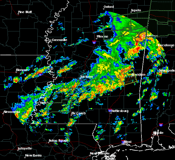 Radar Image for Severe Thunderstorms near Decatur, MS at 12/25/2015 4:35 PM CST