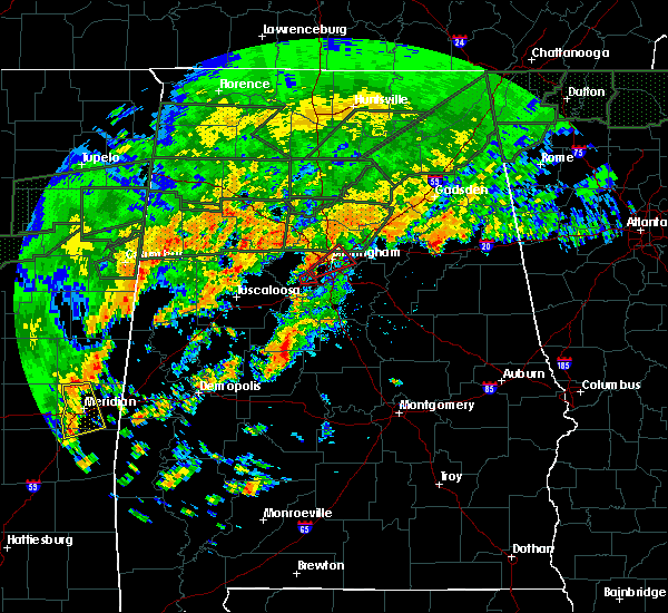 Radar Image for Severe Thunderstorms near Birmingham, AL at 12/25/2015 4:58 PM CST
